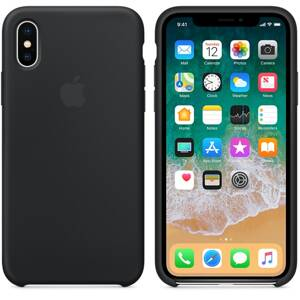 APPLE Silicone Case iPhone X Black