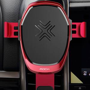 ROCK Gravity Wireless Car Charger 10W Red