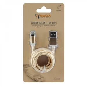 SBOX IPH7-G Apple Lightning/USB-A zlatý 1,5m