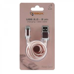 SBOX IPH7-RG Apple Lightning/USB-A ruž/zlat 1,5m