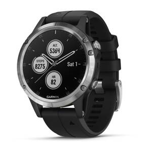 GARMIN Fénix 5 Plus Silver/Black band