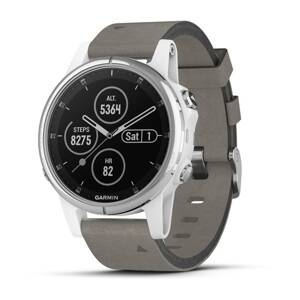 GARMIN Fénix 5S Plus Sapphire White/Gray Leather b