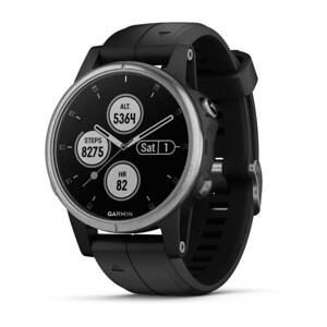 GARMIN Fénix 5S Plus Silver/Black band