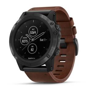 GARMIN Fénix 5X Plus Sapphire Slate Gray Leather B