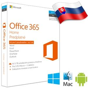 MS Office 365 Home Premium SK 1rok ML