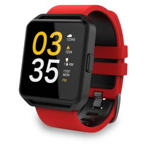MAXCOM SmatWatch FitGo FW15 SQUARE red/blk