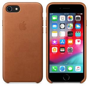 APPLE Leather Case iPhone 8/7 (Saddle brown)
