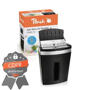 PEACH Skartovač Auto Micro Cut Shredder s SF