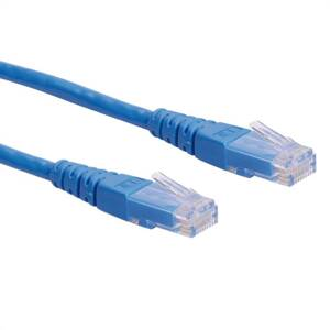 ROLINE UTP Patch Cord Cat.6, blue 0.3m