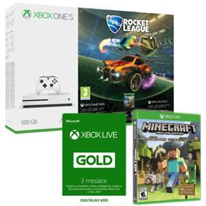 XBOX ONE S 500GB Rocket League+ MFP+3m gold