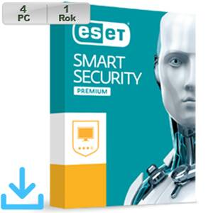 ESET Smart Security Premium 2018 4PC na 1r El. lic
