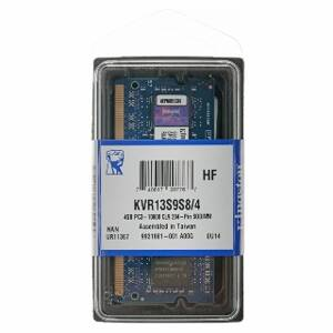 SO DIMM -- KINGSTON DDR3 4G 1333Mhz KVR13S9S8/4