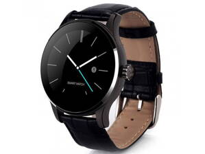 Hodinky SMARTOMAT ROUNDZ 1 LEATHER BLACK
