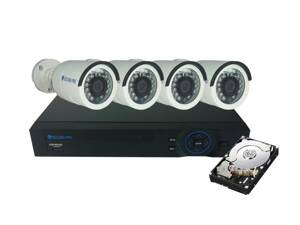 Kamera set SECURIA PRO AHD4CHV1/1TB-W 720P 4CH DVR + 4x IR CAM + 1TB HDD analog