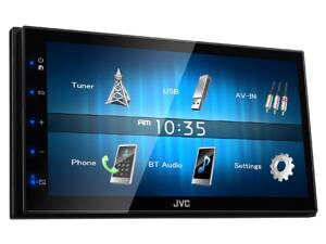 "Autorádio JVC 2DIN USB/AUX,Bluetooth s 6,8"" displej"