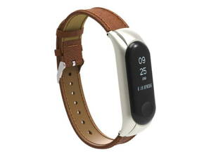 Remienok XIAOMI MI BAND 3 LEATHER BROWN