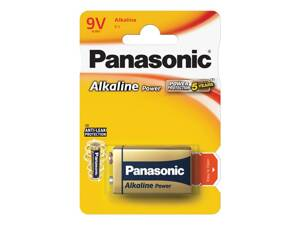 Baterie 6F22 (9V) alkalická PANASONIC Power alk 6LR61 1BP
