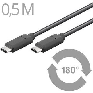 CABLE KÁBEL USB3.1 Typ C/male - USB 3.1 konektor C