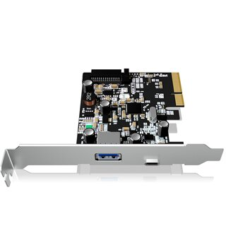 ICY BOX PCI-E card with 1x Type-C and 1xUSB 3.1