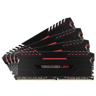 CORSAIR Vengeance LED RED 32GB (4x8GB)/DDR4/3466