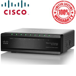 Cisco SG200-08P 8-Port Gigabit POE Smart Switch