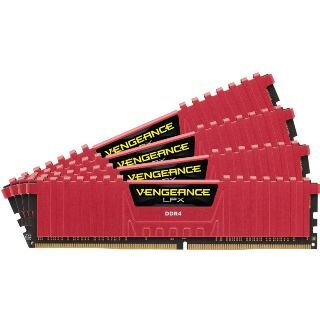 CORSAIR Vengeance LPX RED 32GB (4x8GB)/DDR4/2400MH