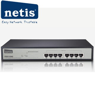 NETIS PE6108G 8 Port Gigabit Ethernet PoE Switch/8