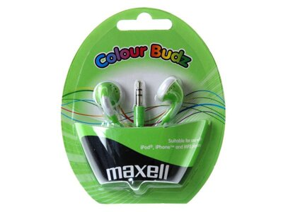 Sluchátka Maxell 303361 Colour Budz Green