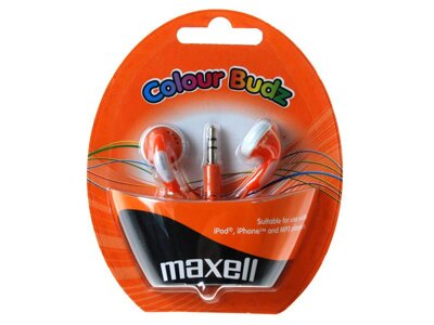 Sluchátka Maxell 303360 Colour Budz Orange