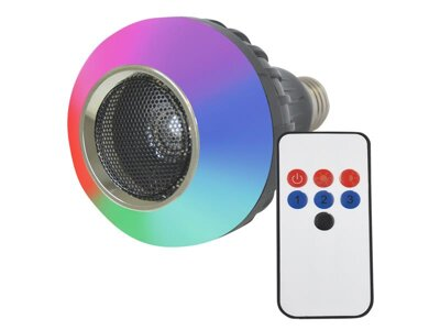 RGB LED disco žárovka s bluetooth E27